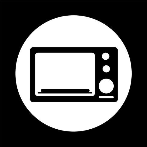 icono de horno vector