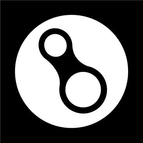 icône de mousqueton vecteur