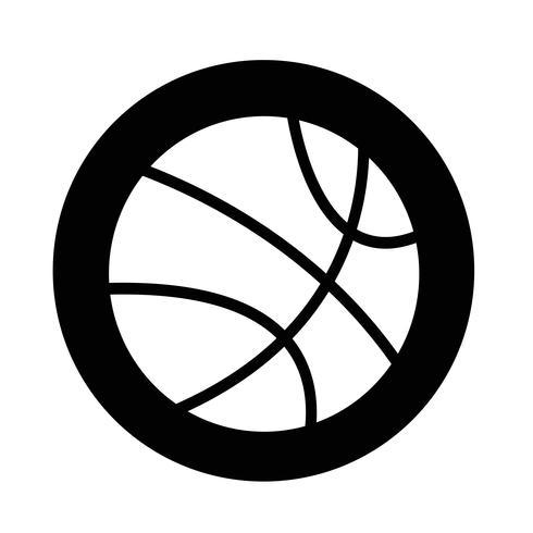 icono de baloncesto vector
