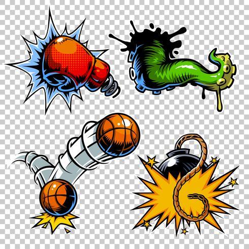 Vektor uppsättning ikoner för färgkataloger.