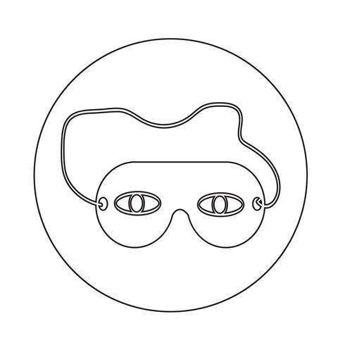icona della maschera per gli occhi del sonno vettore
