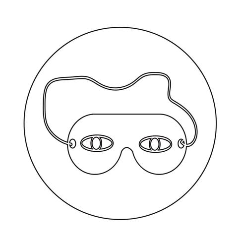 Schlafaugenmaske-Symbol
