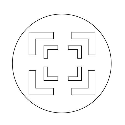 Icono de enfoque vector