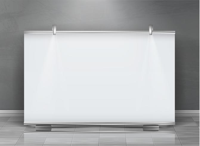 Vettore vuoto rimboccarsi banner, stand orizzontale