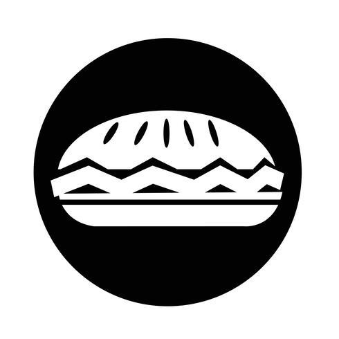 icona della torta di cibo vettore