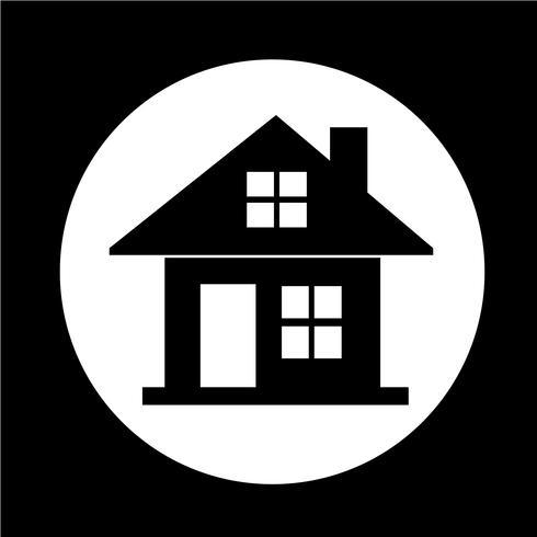Icono de la casa de bienes raíces vector
