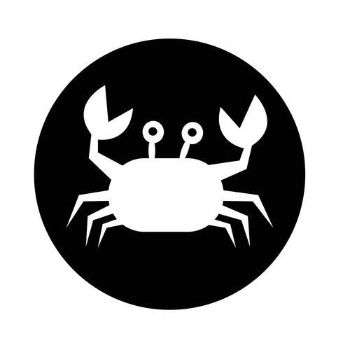 icono de cangrejo vector
