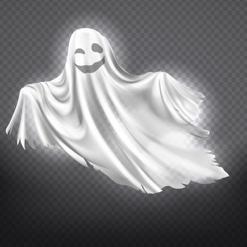 Vector fantasma blanco, fantasma. Espíritu fantasmagórico de halloween