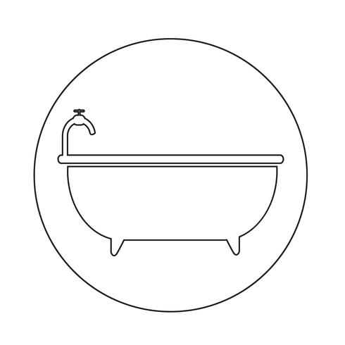 Icono de bañera vector