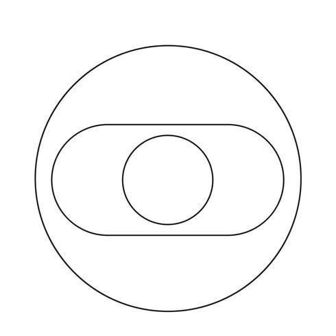 Druk op het pictogram van de schakelaar vector
