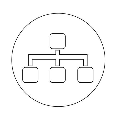 Icono de estructura de árbol vector
