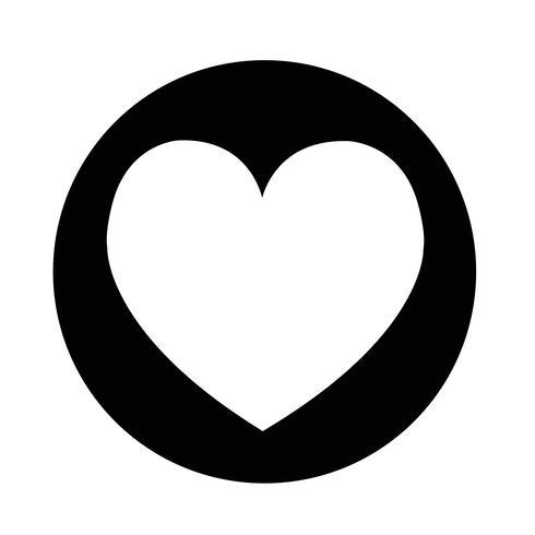 Icona del cuore di amore vettore