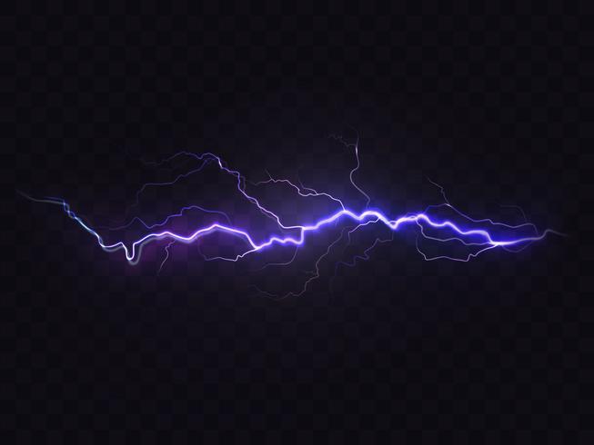 Vector realistischen Blitz, purpurrotes Gewitter, Gestaltungselement