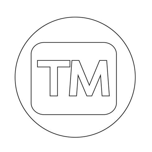 botón de marca registrada