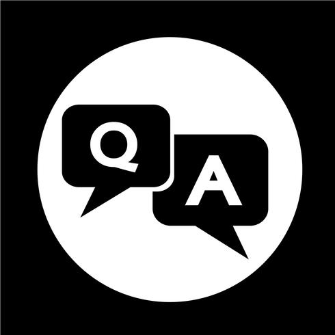 Question answer icon vector