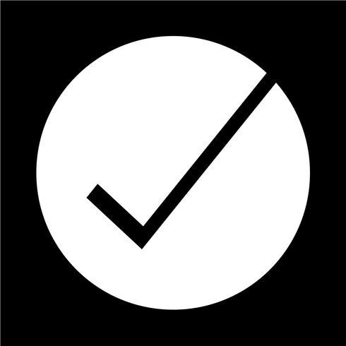 Correct icon vector