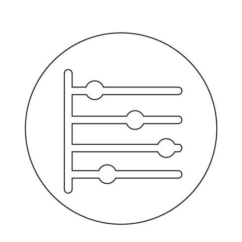 Icona della timeline vettore