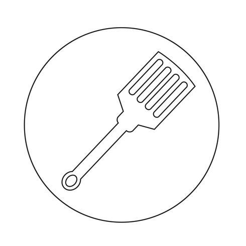 icono de cocina espátula vector