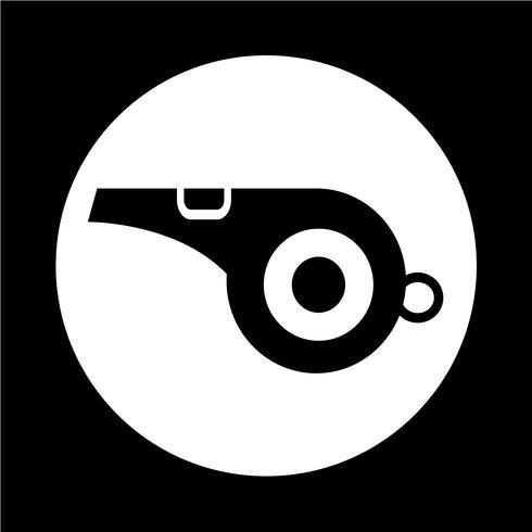 icono de silbato vector