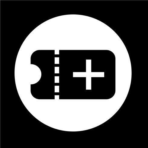 Icona del biglietto vettore