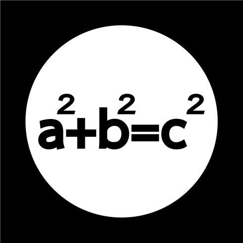 Icono del teorema de Pitágoras vector
