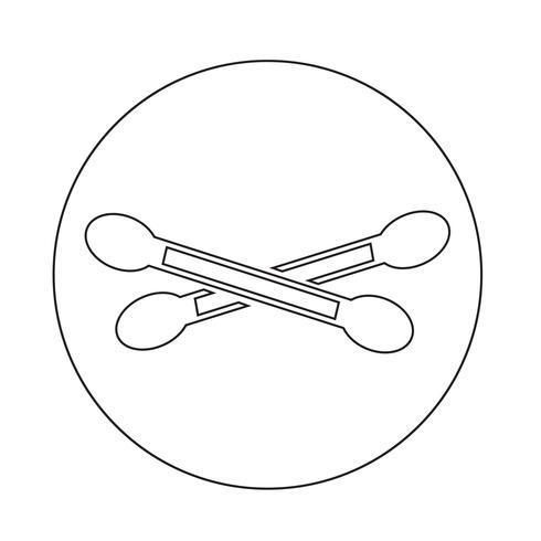 Icono de hisopo de algodón vector