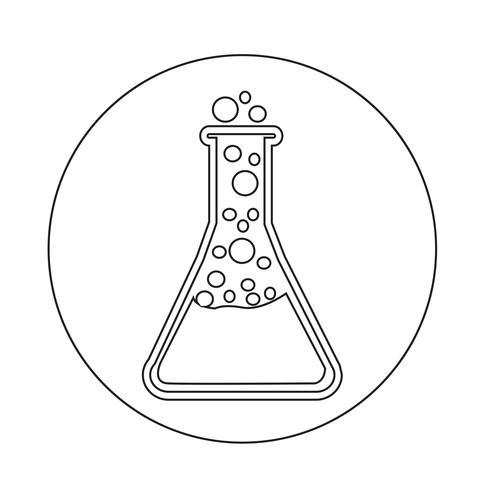 Reageerbuis pictogram
