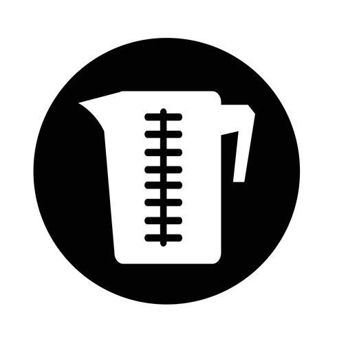 Icono de taza de medir vector