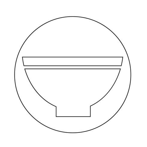 icono de tazón vector