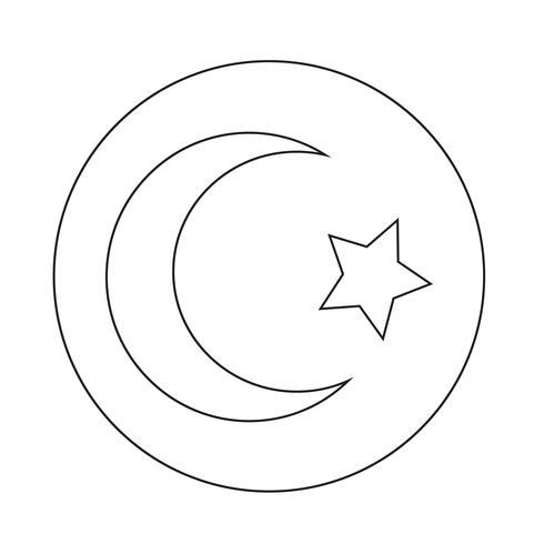 Islam Star Halbmond-Symbol