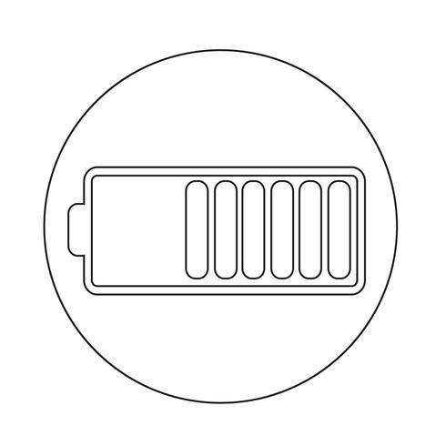 Icono de símbolo de batería vector