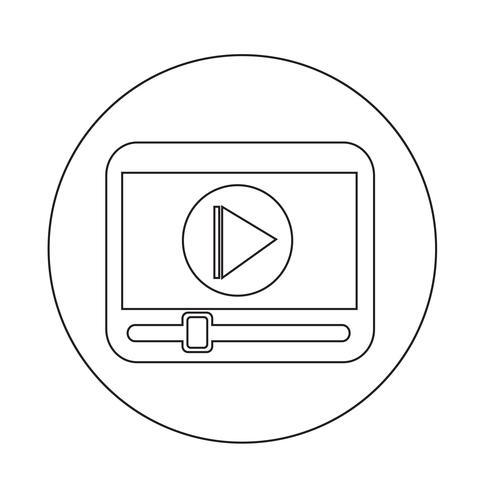 icono del reproductor de medios vector
