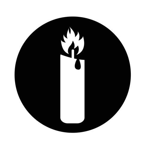 Icono de vela vector