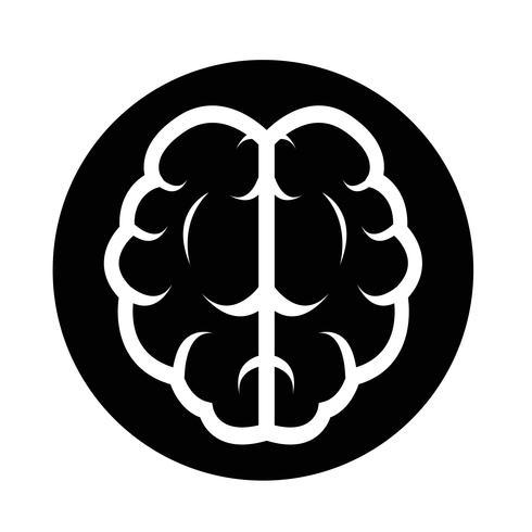 Icono del cerebro vector
