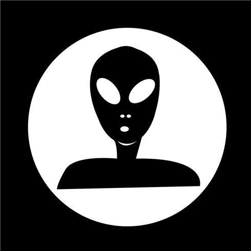 Icono alienígena vector