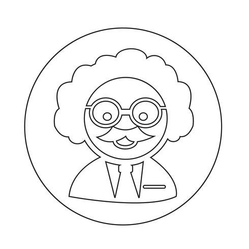 Icono de profesor científico vector