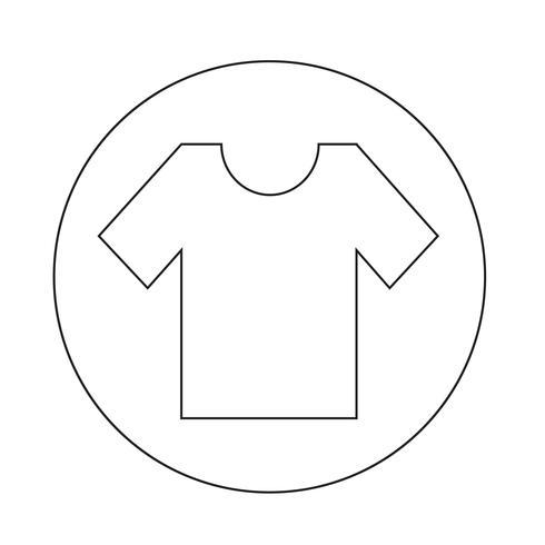 Icono de la camiseta vector