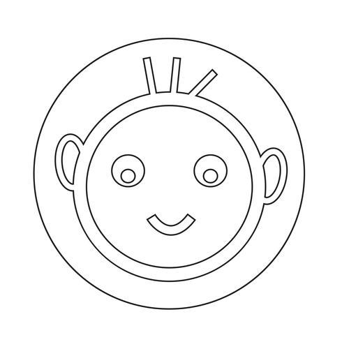 icono de niño feliz vector