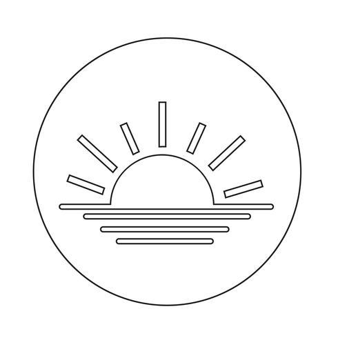 Sonnenaufgang Sonnenuntergang Symbol