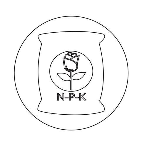 Icono de fertilizante vector