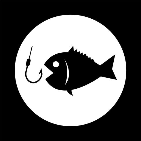 Icono de pesca vector