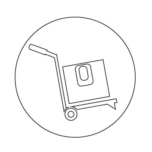 ícone de caixa de logística vetor