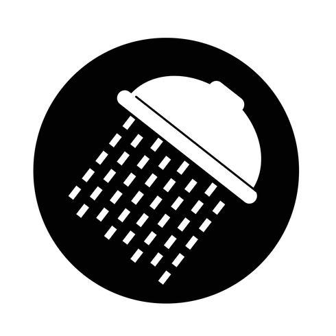 Icono de ducha vector