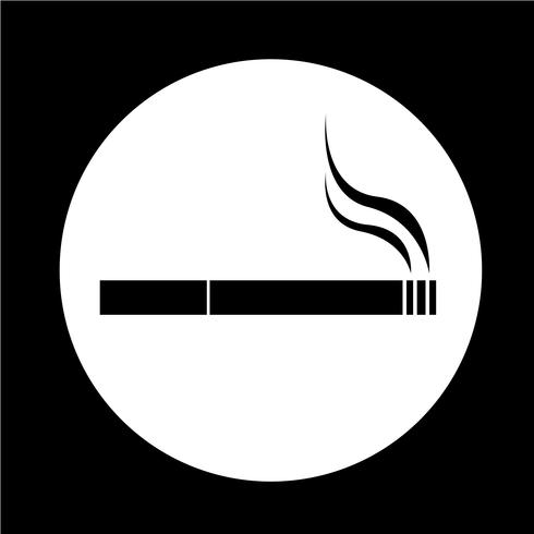 Cigarette icon vector