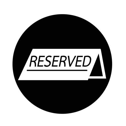 icono reservado vector
