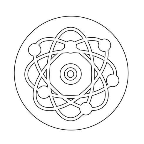 icono del átomo vector
