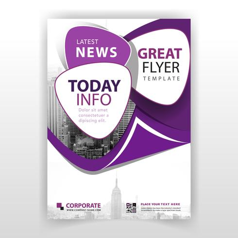 folleto corporativo púrpura vector