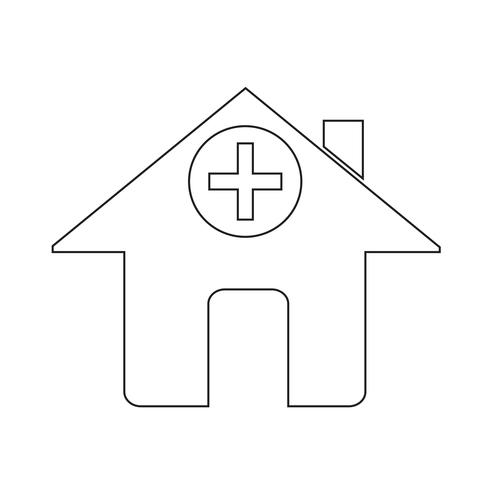 Icono de signo de hospital vector