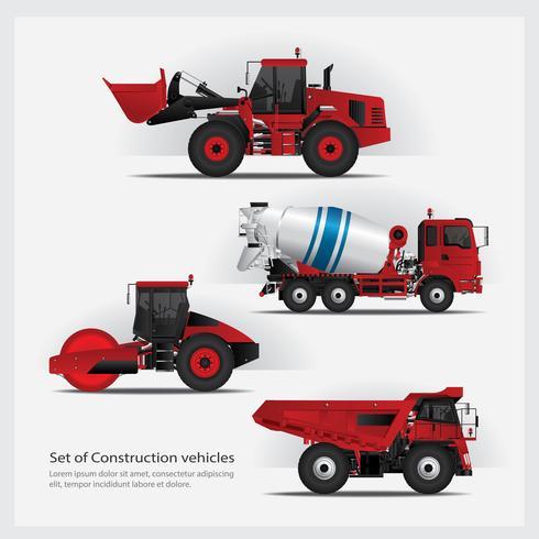 Baufahrzeuge eingestellt Vektor-Illustration