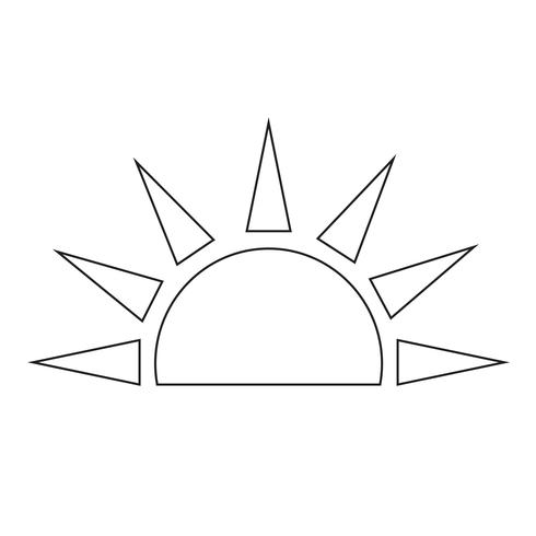 Sign of  sun icon vector